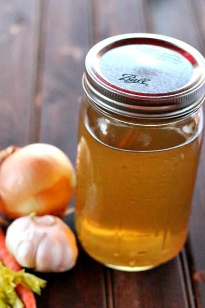 vegetable stock mason jar