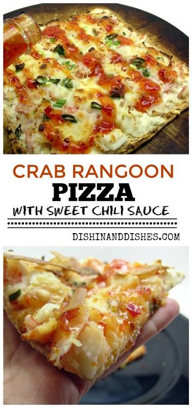 Crab Rangoon Pizza With Sweet Chili Sauce - Dishin & Dishes