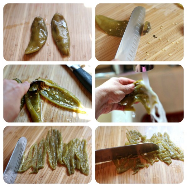 Hatch Chiles cut