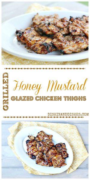 Grilled Honey Mustard Glazed Chicken Thighs 3