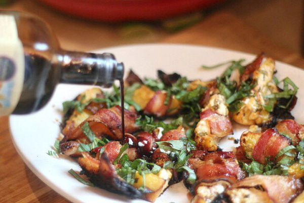 Bacon Wrapped Grilled Peaches