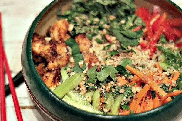 Thai quinoa bowl