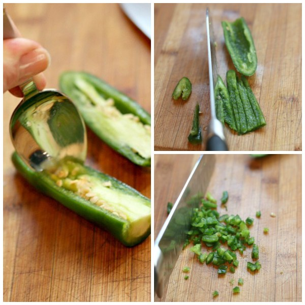 chop jalapeno collage