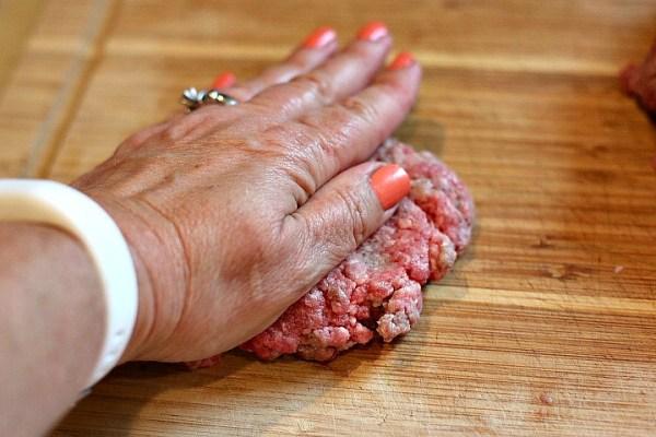 shaping hamburger patties instructions