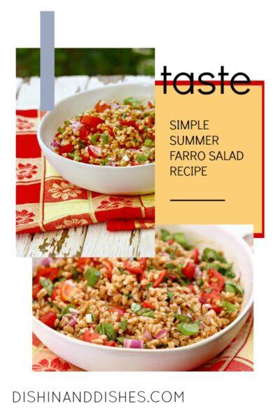 summer farro tomato basil salad
