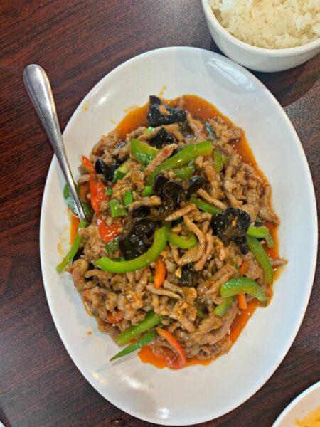 Chuanyu Fusion Eatery OKC crispy pork in garlic
