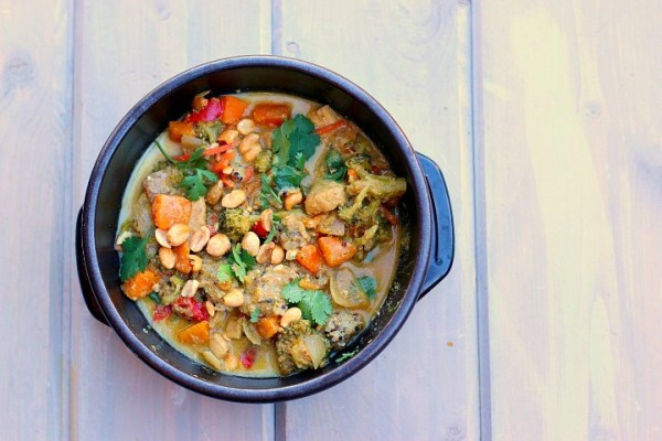 Massaman Yellow Curry With Chicken - Dishin & Dishes