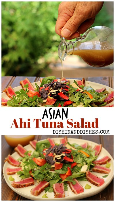 Asian Ahi Tuna Salad Recipe - Dishin & Dishes
