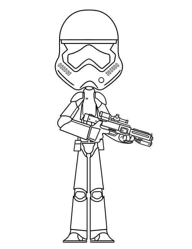 Storm Trooper Coloring Page - THE DIG