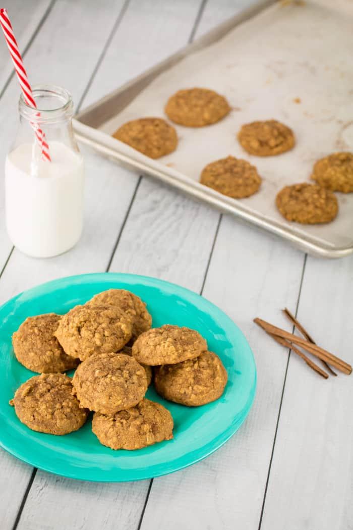 Soft Baked Gluten Free Pumpkin Oatmeal Cookies-9