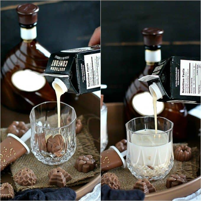 Eggnog Rum Cocktail with Fudgy Chocolate Popsicles