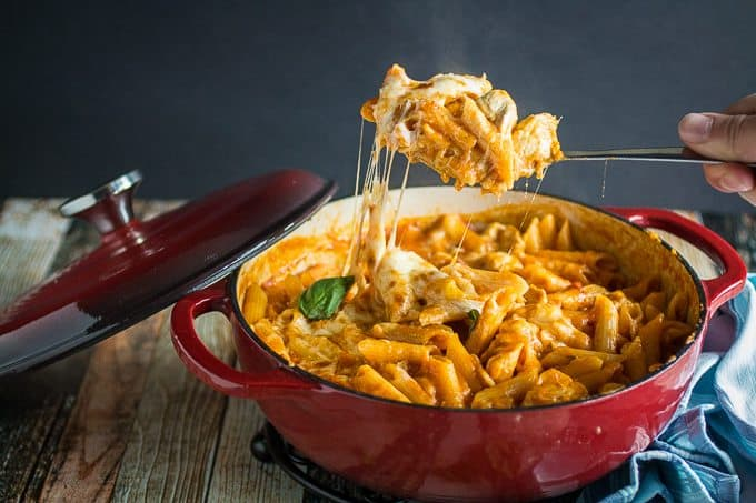 Easy One Pot Chicken Parmesan & Pasta