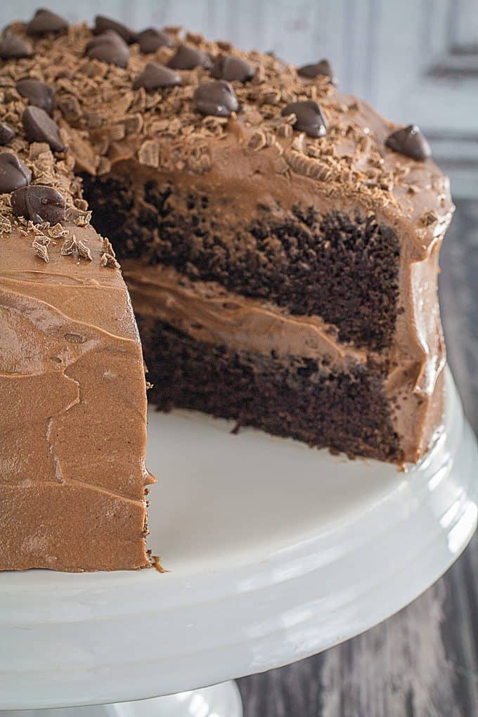 gluten free double chocolate cake