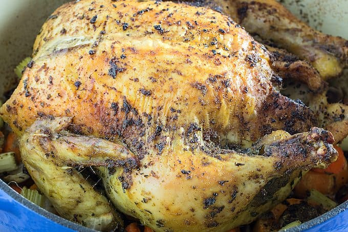 dutch oven whole chicken & potatoes