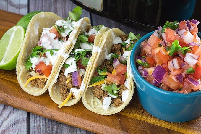 slow cooker taco meat