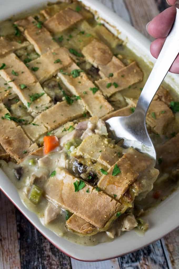 Leftover Turkey Pot Pie Casserole