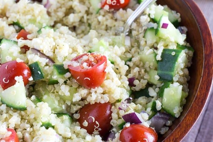 Bowl of quinoa gluten free
