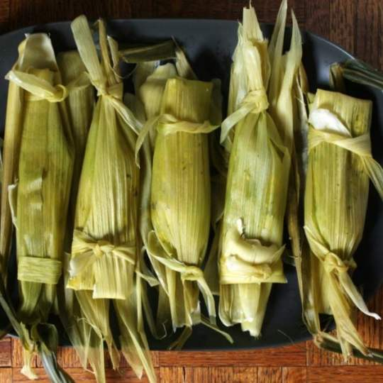 A Platter of Steamed Tamales
