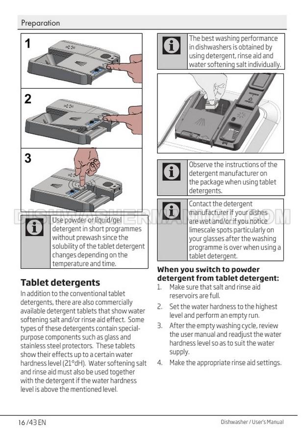 Beko DIN15R11 Dishwasher User's Manual