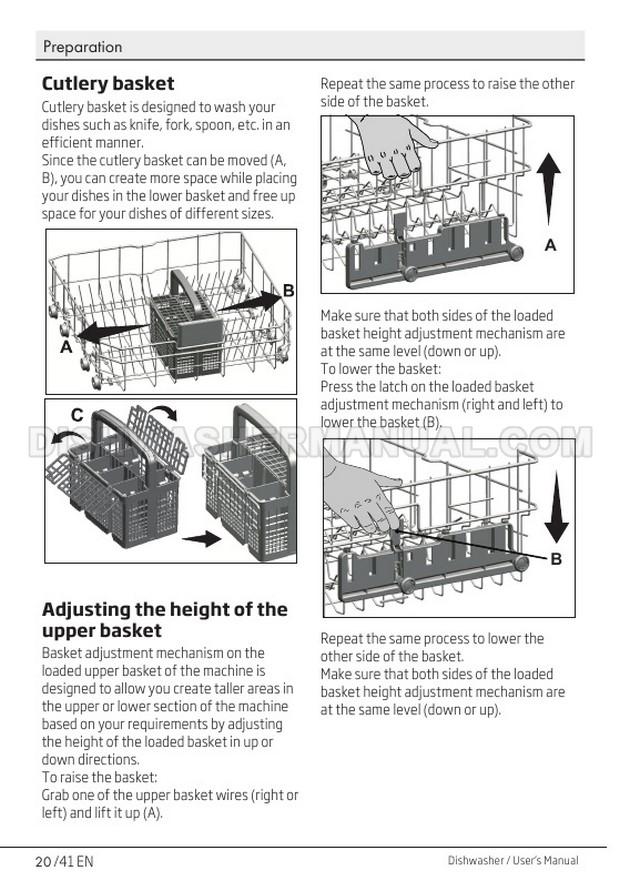 Beko DIN15X10 Top Control Dishwashing Machine User's Manual