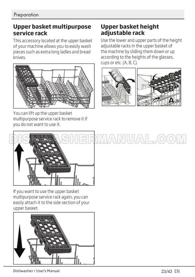Beko DIN26410 Dishwasher User's Manual