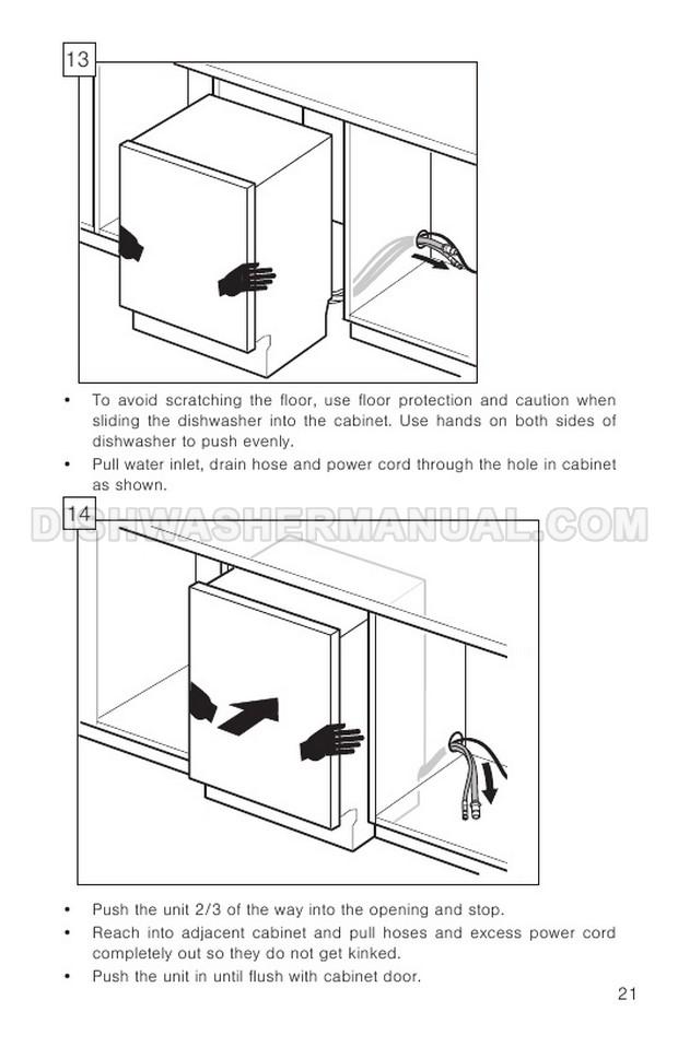 Bosch SHP88PZ55N Dishwashing Machine Installation Instructions