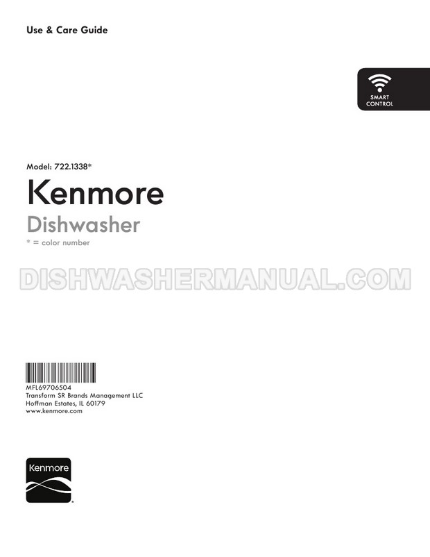 Kenmore 13387 Dishwasher Use & Care Guide