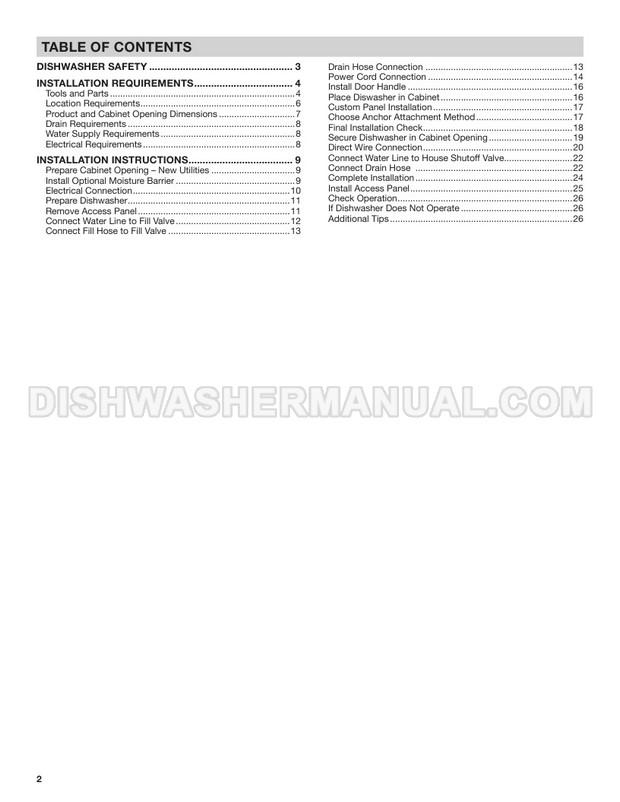 KitchenAid KDTE234GBL Top Control Dishwasher Installation