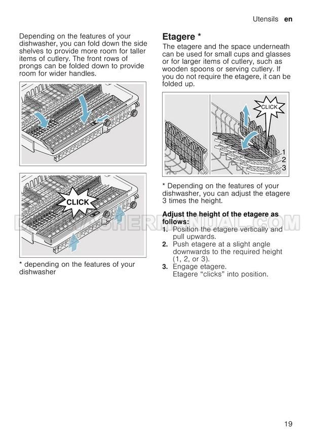 NEFF S583C50X0G Top Control Dishwasher Instruction Manual
