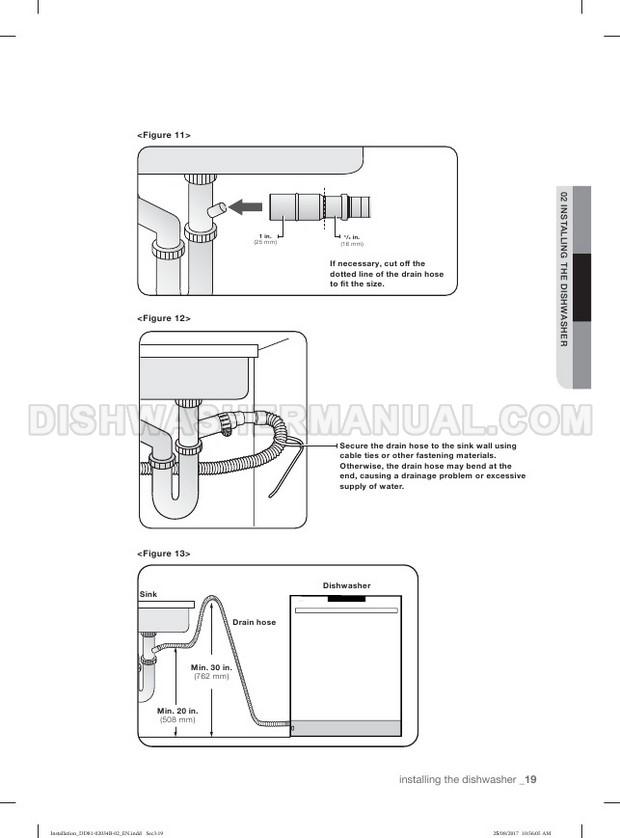 Samsung DW80R5060US Top Control Dishwasher Installation Guide