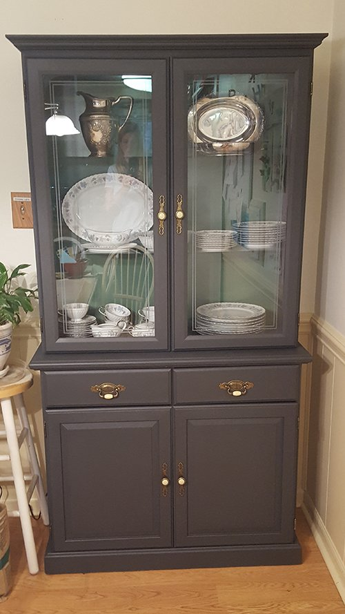 CHEAP China Hutch Makeover Dishwasher Required
