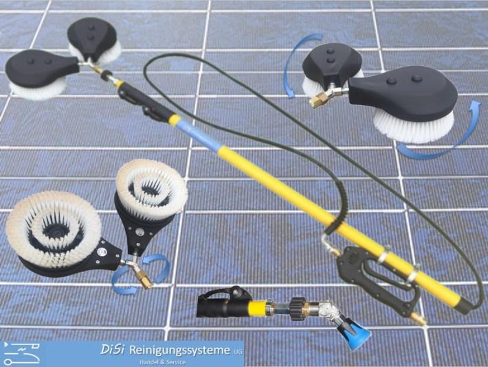 Photovoltaik-Reinigungsset-Waschbürste-Teleskoplanze