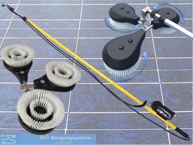 Photovoltaik-Solar-Reinigungsset-Teleskplanze-Waschbürste-Hochdruckreiniger