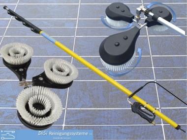 Photovoltaik-Reinigungsset-Solar-Bürste-Rotierend-Teleskoplanze
