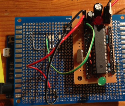 Arduino Leonardo as isp with shield