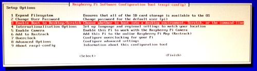 raspi-conf : configure boot