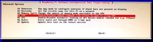 raspi-config : active SSH server