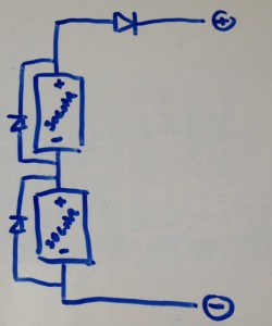 solar cell serial circuit