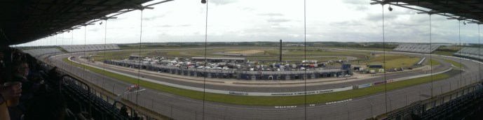 View from the huge grandstand