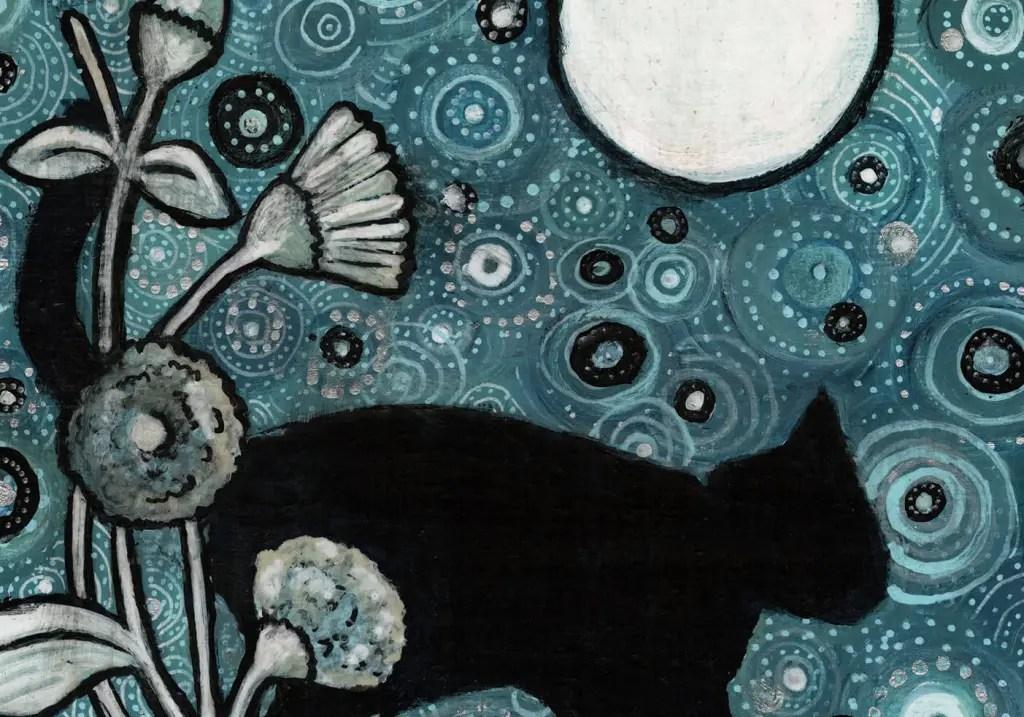 black cat silhouette by Heidi Scheidl