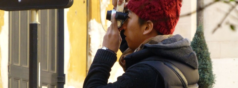 foto turista giapponese verona