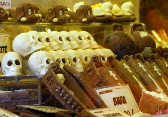 chocolate verona teschietti e bare cioccolato
