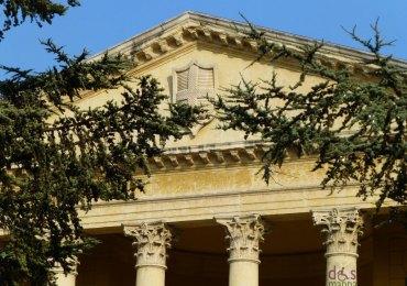 Particolare della facciata di Palazzo Barbieri, sede del Comune di Verona