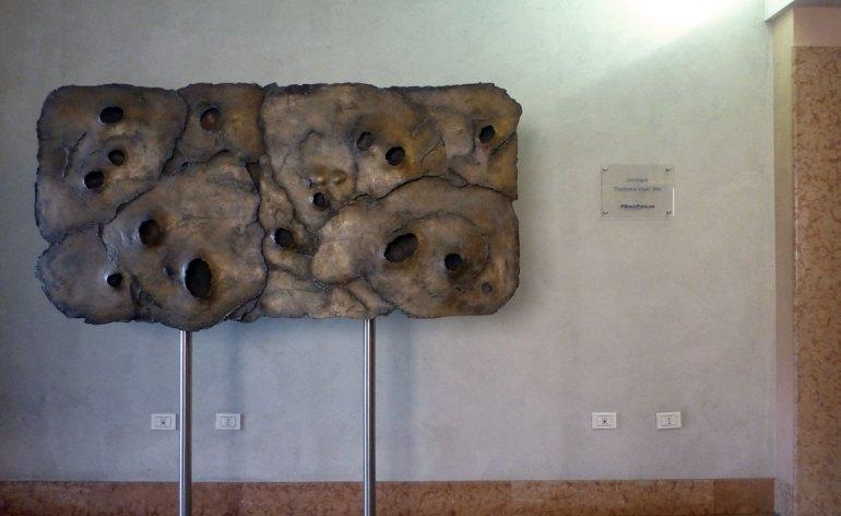 scultura planimetria vitale di gino bogoni al polo giorgio zanotto di verona