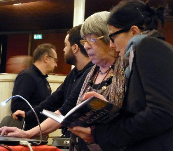 Paola Degiuli e la Signora Caroli al Teatro Nuovo di Verona