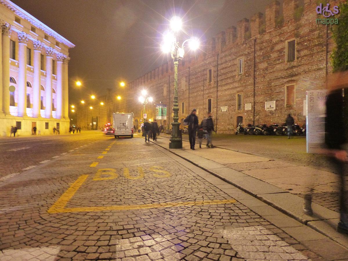 Parcheggio disabili cancellato Gran Guardia Verona