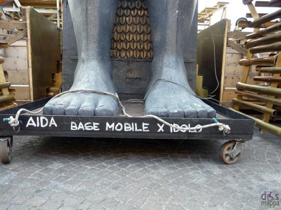 aida - base mobile per idolo - scenografia in piazza bra