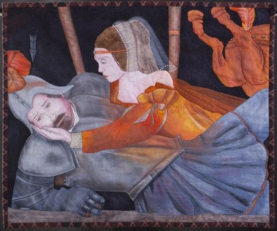 Romeo e Giulietta, arazzo fuori concorso di Sonia Bardella per Verona tessile 2013