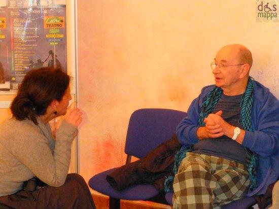 lindsay kemp durante l'intervista al teatro camploy per il romeo and juliet project