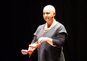 l'attrice patricia zanco interpreta la giornalista tina merlin